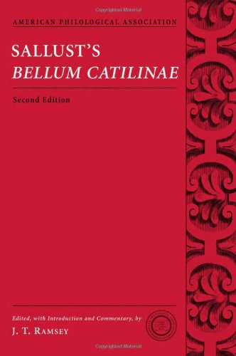 9780195320848: Sallust's Bellum Catilinae (American Philological Association Classical Texts with Commentary Series)