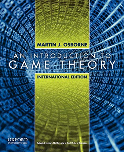 9780195322484: Introduction to Game Theory: International Edition