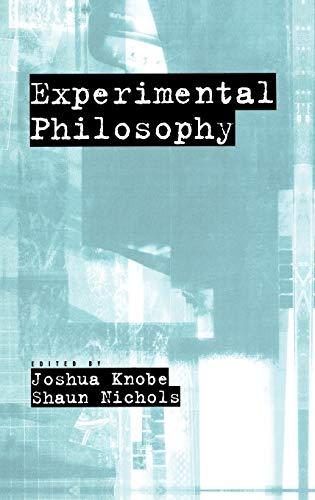 9780195323252: Experimental Philosophy