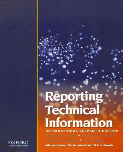 9780195323528: Reporting Technical Information, International 11th edition
