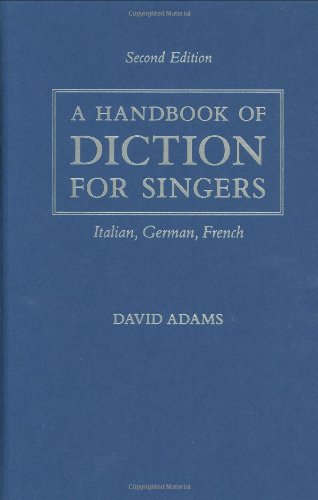9780195325584: A Handbook of Diction for Singers: Italian, German, French