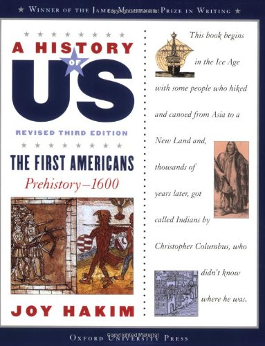9780195327151: A History of US: The First Americans: Prehistory-1600 A History of US Book One