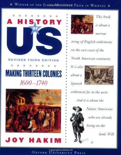 9780195327168: A History of US: Making Thirteen Colonies: 1600-1740 A History of US Book Two