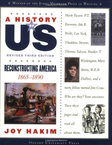 9780195327212: A Reconstructing America: 1865-1890 A History of US Book 7