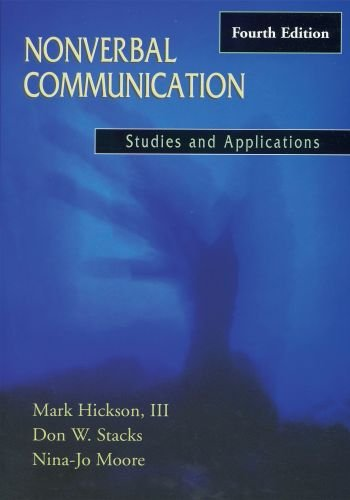 9780195329889: Nonverbal Communication: Studies and Applications