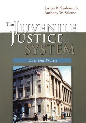 The Juvenile Justice System: Law and Process: Sanborn, Joseph B.;