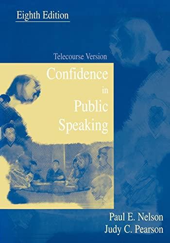 9780195330434: Confidence in Public Speaking: Telecourse Version