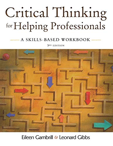 9780195330953: Critical Thinking for Helping Professionals: A Skills-Based Workbook