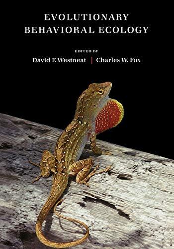 9780195331929: Evolutionary Behavioral Ecology