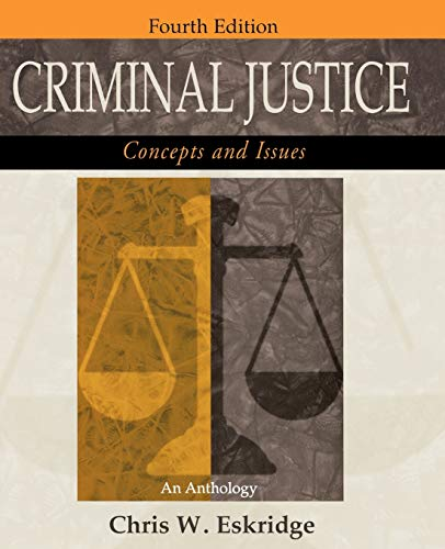 9780195332056: Criminal Justice: Concepts and Issues: An Anthology 4th Edition