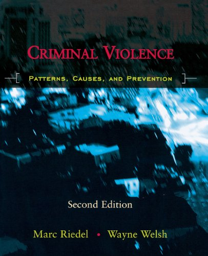 9780195332483: Criminal Violence: Patterns, Causes, and Prevention