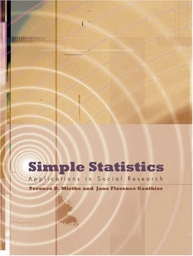 9780195332544: Simple Statistics: Applications in Social Research