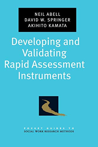 9780195333367: Developing and Validating Rapid Assessment Instruments (Pocket Guide to Social Work Research Methods)