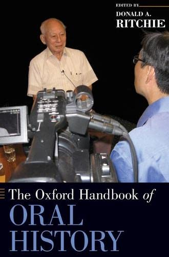 9780195339550: The Oxford Handbook of Oral History (Oxford Handbooks)