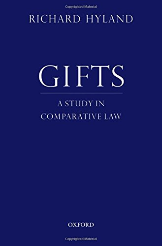 9780195343366: Gifts: A Study in Comparative Law