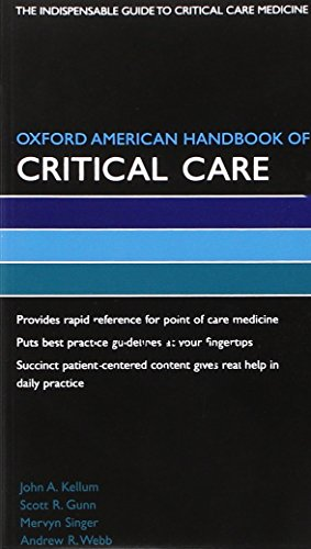 Oxford American Handbook of Critical Care Book: Webb Andrew Singer