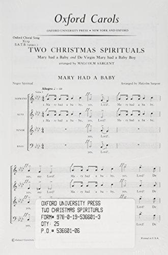 9780195366013: Two Christmas Spirituals