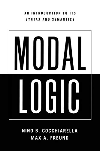 9780195366570: Modal Logic: An Introduction to its Syntax and Semantics