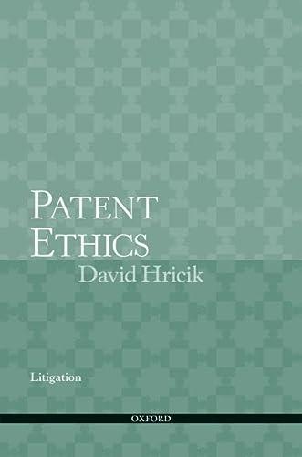 9780195367096: Patent Ethics Litigation