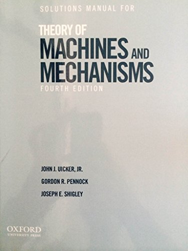 9780195371246: Solutions Manual for Theory of Machines and Mechanisms B