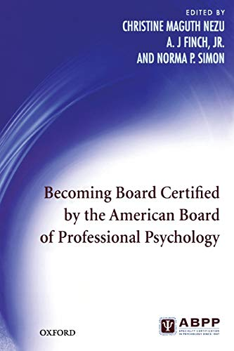 9780195372434: Becoming Board Certified by the American Board of Professional Psychology