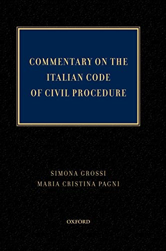 9780195372717: Commentary on the Italian Code of Civil Procedure