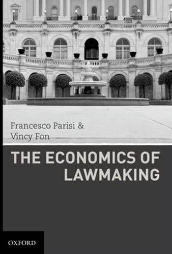 9780195374155: The Economics of Lawmaking