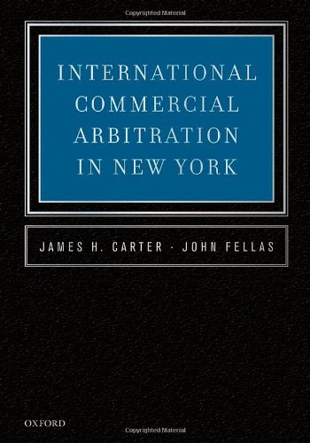 9780195375626: International Commercial Arbitration in New York