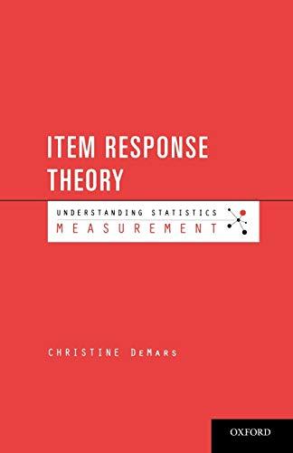 9780195377033: Item Response Theory (Understanding Statistics): Measurement)