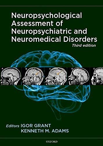 9780195378542: Neuropsychological Assessment of Neuropsychiatric and Neuromedical Disorders