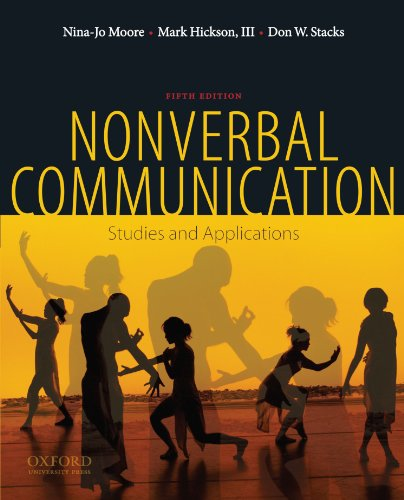 9780195378573: Nonverbal Communication: Studies and Applications
