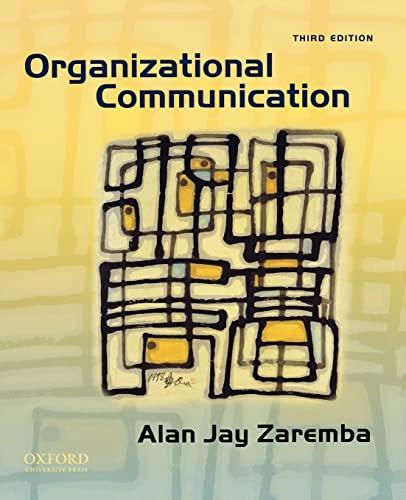 Organizational Communication: Zaremba, Alan Jay