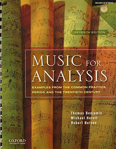 9780195379839: Music for Analysis: Examples from the Common Practice Period and the Twentieth Century