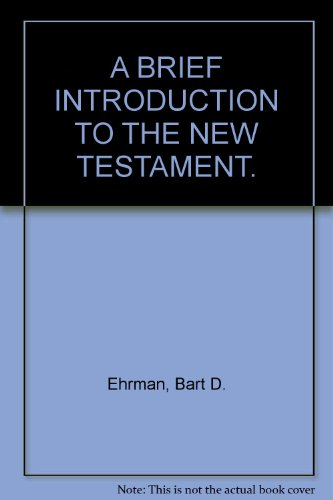 9780195380262: A BRIEF INTRODUCTION TO THE NEW TESTAMENT.