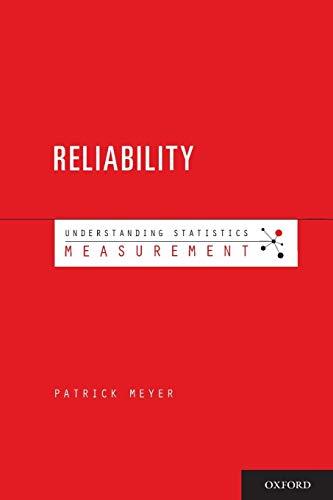 9780195380361: Understanding Measurement: Reliability (Understanding Statistics)