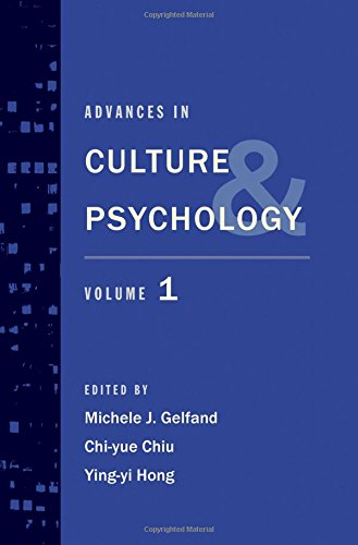 9780195380392: Advances in Culture and Psychology: Volume 1