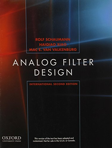 9780195380552: Design of Analog Filters, Second Edition, International Edition