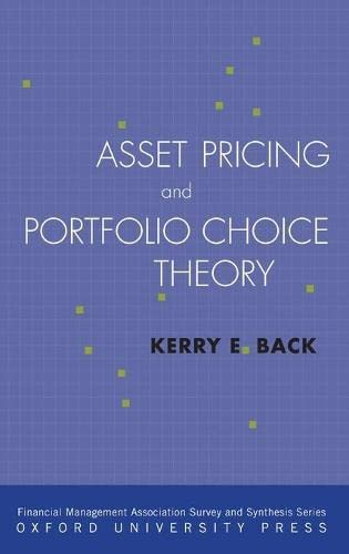 9780195380613: Asset Pricing and Portfolio Choice Theory (Financial Management Association Survey and Synthesis Series)