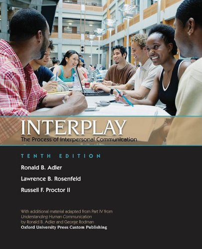 9780195381627: Interplay, The Process of Interpersonal Communication [Custom]