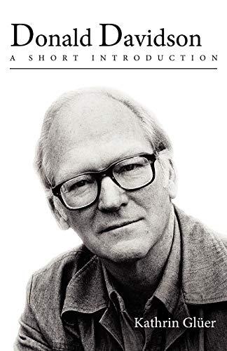 9780195382969: Donald Davidson: A Short Introduction