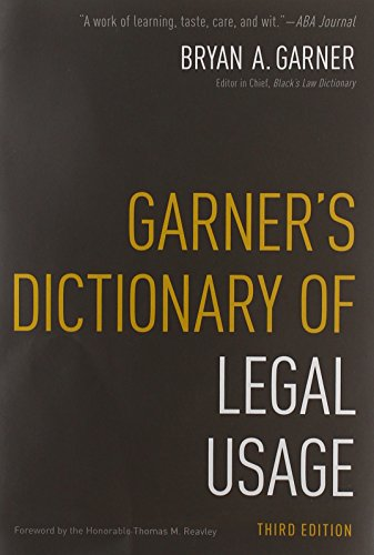 9780195384208: Garner's Dictionary of Legal Usage