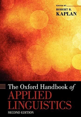 9780195384253: The Oxford Handbook of Applied Linguistics (Oxford Handbooks)