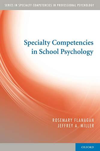 9780195386325: Specialty Competencies in School Psychology (Specialty Competencies in Professional Psychology)