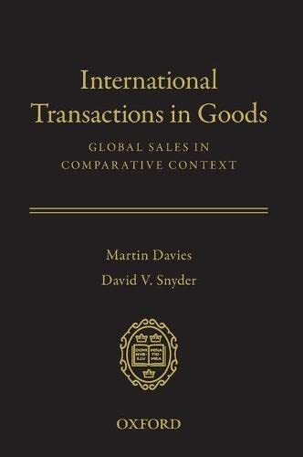 9780195388183: International Transactions in Goods: Global Sales in Comparative Context
