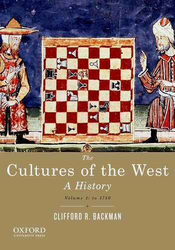 9780195388909: The Cultures of the West, Volume One: To 1750: A History