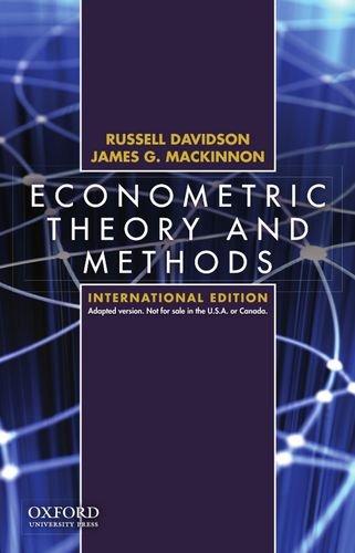 9780195391053: Econometric Theory and Methods International Edition