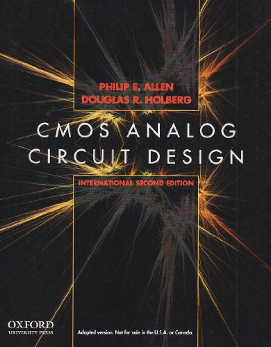 9780195392463: Cmos Analog Circuit Des Internat ed 2nd