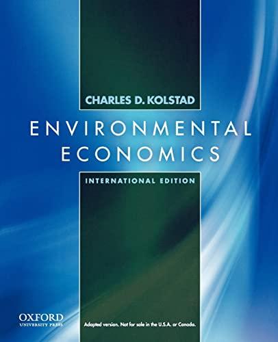 9780195392555: Environmental Economics: International Edition