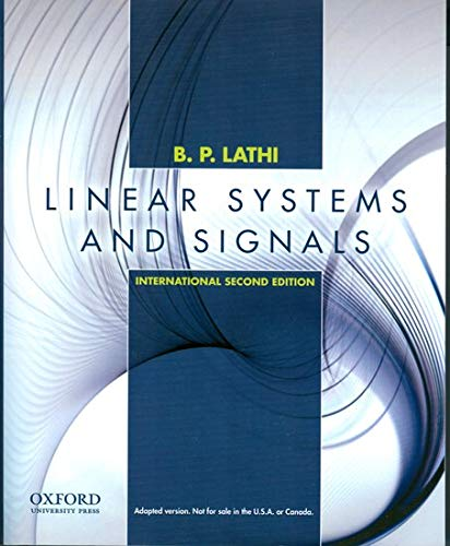 9780195392562: Linear Systems and Signals: International Edition