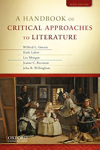 9780195394726: A Handbook of Critical Approaches to Literature